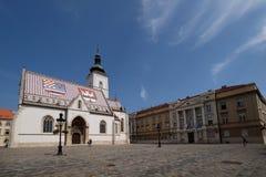 La iglesia de St Mark en Zagreb fotografía de archivo libre de regalías