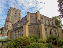 La iglesia de St Mary, calle de la iglesia, Watford foto de archivo