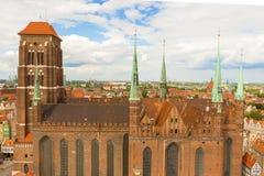 La iglesia de St Mary, Gdansk Imagen de archivo libre de regalías