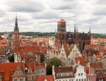 """La iglesia de St Mary, """"SK, Polonia de GdaÅ imagen de archivo libre de regalías"""