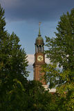 La iglesia de St Michaelis en Hamburgo Fotografía de archivo
