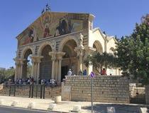 La iglesia de todas las naciones en el jardín de Gethsemane Israel Imagen de archivo libre de regalías