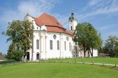 Iglesia de Wies, Baviera superior, Alemania Imagen de archivo libre de regalías