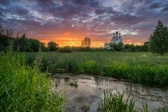 La iglesia del anuncio en Taininskoye Fotografía de archivo libre de regalías