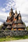 La iglesia del bastón de Heddal es Noruega Fotografía de archivo