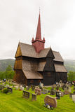 La iglesia del bastón en Ringebu, construido alrededor del año 1220, es uno Fotos de archivo libres de regalías
