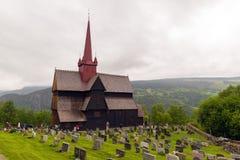 La iglesia del bastón en Ringebu, construido alrededor del año 1220, es uno Imágenes de archivo libres de regalías
