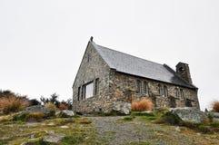 La iglesia del buen pastor en el lago Tekapo, nuevo Zeland. imagen de archivo libre de regalías