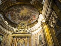 La iglesia del ¹ de Gesà está situada en el ¹ del Gesà de la plaza en Roma Imagen de archivo libre de regalías