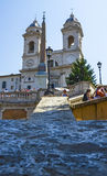 La iglesia del dei Monti de Santissima Trinità Fotografía de archivo libre de regalías