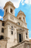La iglesia del dei Monti, Roma, Italia de Trinita Imagen de archivo