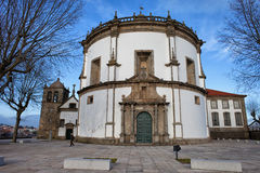 La iglesia del monasterio de Serra hace Pilar en Portugal Fotografía de archivo libre de regalías