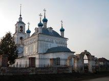 La iglesia del Nativiti de la Virgen bendecida de la región de Pereslavl Zalessky Yaroslavl Foto de archivo libre de regalías