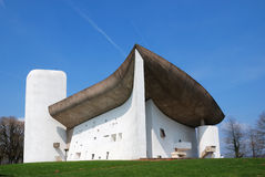 La iglesia del peregrinaje de Notre Dame du Haut Foto de archivo libre de regalías
