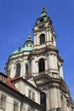 La iglesia del Saint Nicolas, Praga, República Checa Fotografía de archivo