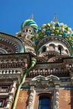 La iglesia del salvador en sangre derramada, St Petersburg Fotos de archivo libres de regalías