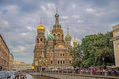 La iglesia del salvador en sangre en St Petersburg Imagen de archivo libre de regalías