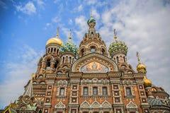 La iglesia del salvador en sangre en St Petersburg Imagen de archivo