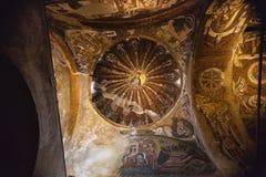 La iglesia del salvador santo en Chora Foto de archivo libre de regalías
