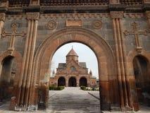 La iglesia del santo Gayane (siglo VII) en Armenia imagen de archivo