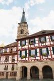 La iglesia del santo Juan y San Martín, Schwabach, alemán foto de archivo