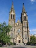 La iglesia del St. Ludmila en Praga. Fotos de archivo