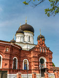 La iglesia del Theotokos de Tikhvin en la región de Noginsk - de Moscú, Rusia fotografía de archivo libre de regalías