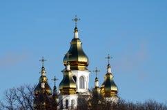 La iglesia doró la bóveda Imagenes de archivo
