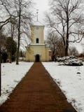 La iglesia en barras del ¼ de LÃ en invierno Imagen de archivo libre de regalías