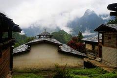 La iglesia en el área de la nacionalidad de Dulong Fotografía de archivo