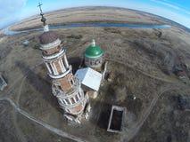 La iglesia en el pueblo Perevles Fotos de archivo libres de regalías