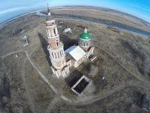 La iglesia en el pueblo Perevles Imagen de archivo libre de regalías