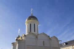 La iglesia en la abadía del sergei de Sam, Federación Rusa Imágenes de archivo libres de regalías