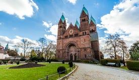 La iglesia en mún homburg Imágenes de archivo libres de regalías