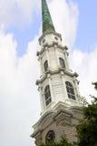 La iglesia en sabana en Georgia se conoce para sus parques manicured, carros traídos por caballo y arquitectura de preguerra ador Imágenes de archivo libres de regalías