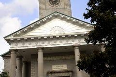 La iglesia en sabana en Georgia se conoce para sus parques manicured, carros traídos por caballo y arquitectura de preguerra ador Foto de archivo