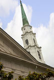 La iglesia en sabana en Georgia se conoce para sus parques manicured, carros traídos por caballo y arquitectura de preguerra ador Imagenes de archivo