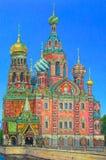 La iglesia en St Petersburg Imagen de archivo