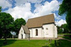La iglesia en Vasteraker, Uppland, Suecia Imagenes de archivo