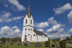 La iglesia en Veddige, Suecia Foto de archivo
