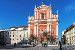 La iglesia franciscana Imagen de archivo