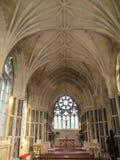 La iglesia gótica nea del kylemore interior en la abadía de Kylemore Foto de archivo