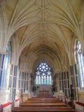 La iglesia gótica nea del kylemore interior en la abadía de Kylemore Imagen de archivo libre de regalías