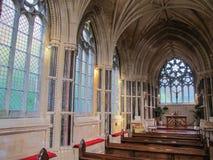 La iglesia gótica nea del kylemore interior en la abadía de Kylemore Fotografía de archivo libre de regalías