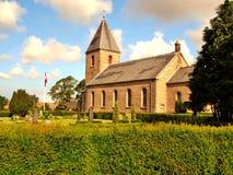 La iglesia histórica en Vesterrmarie Fotografía de archivo libre de regalías