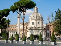 La iglesia la mayoría del nombre santo de Maria en el foro Roma de Trajan Fotos de archivo libres de regalías