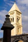 La iglesia luterana del redentor (Erlöserkirche), ciudad vieja de la torre de Jerusalén Fotos de archivo libres de regalías