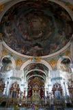 La iglesia más vieja con la pintura de la pared más grande fotografía de archivo