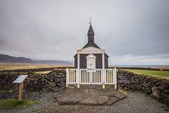 La iglesia negra de Budir Islandia Imagenes de archivo