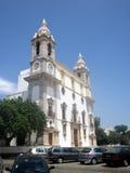 La iglesia Nossa Senhoro hace a Carmen faro Fotografía de archivo